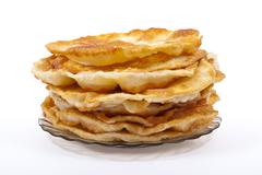 Stock Photo of stack of pancakes on the plate
