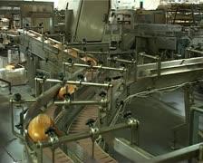 Сonveyor with long loafs Stock Footage