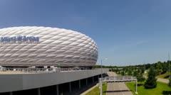 Allianz arena in munich Stock Footage