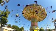 Stock Video Footage of chairoplane