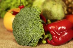 Broccoli and vegetables Stock Photos
