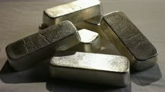 SILVER BULLION BARS 2 Stock Footage