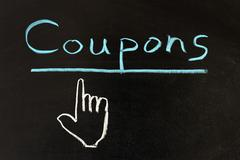 Stock Photo of coupons