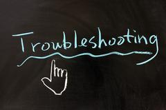 troubleshooting - stock photo
