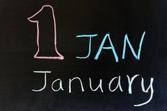january - stock photo