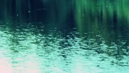 Lake night reflection Stock Footage