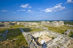View on archeological site Bribirska glavica Stock Photos