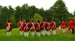Redcoats in Formation Stock Footage