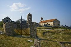 Church on archeological site Bribirska glavica Stock Photos