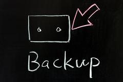 backup - stock photo