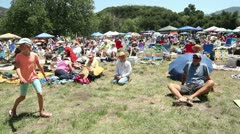 Crowd at Banjo Festival Stock Footage