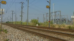 Train passes quickly Stock Footage