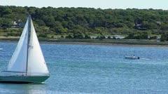 Sailboat at Martha's Vineyard Stock Footage