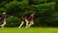 Stock Video Footage of American Soldiers Running from British