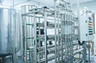 Pure water production line Stock Photos