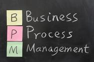 Stock Photo of bpm, business process management