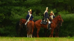 British Dragoons Before Battle Stock Footage