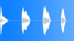 Short caveman hit moans - sound effect