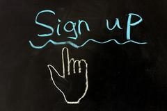 Stock Photo of sign up concept