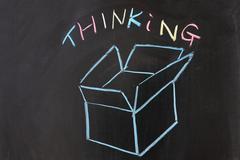Stock Photo of thinking outside the box