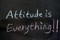 attitude is everything - stock photo