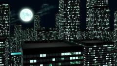Night City logo. 3D animation. Stock Footage