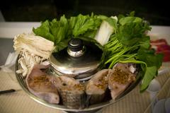 Vietnamese soup called lao at Con Dao island in Vietnam. - stock photo