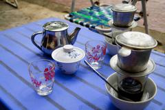 Jasmine tea at Con Dao island in Vietnam. Stock Photos