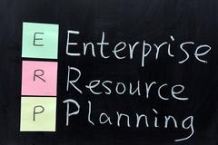 Erp, enterprise resource planning Stock Photos