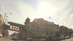 driving through Chinatown - stock footage
