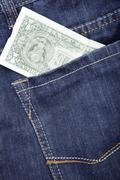 Jeans and dollar Stock Photos