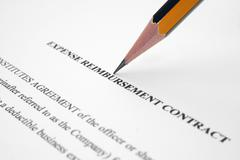 expense contract - stock photo