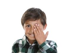 Happy smiling young boy Stock Photos