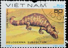 Vietnam - circa 1983:  stamp - animal reptile Stock Photos