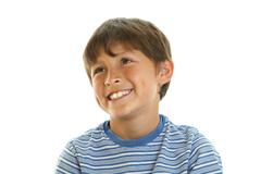 portrait of smiling young boy - stock photo