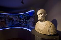 Bust of the Roman emperor in Burnum museum Stock Photos