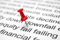 Financial fail Stock Photos
