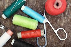 Sewing tools Stock Photos