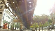 Driving under the El Stock Footage