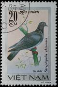 Vietnam - circa 1978:  stamp - animal songbird Stock Photos