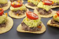 Mexican bites nachos appetiser finger food Stock Photos
