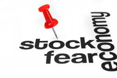 Stock and fear concept Stock Photos