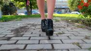 Woman's legs Stock Footage