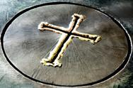 Stock Photo of Metal Cross
