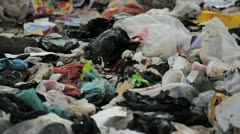 Trash garbage contamination closeup - stock footage