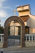 New church of Our Lady of Health in Brodarica Stock Photos