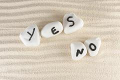 Stock Photo of yes or no