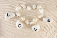 Stock Photo of love word and heart shape