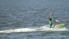 Jet Ski, Jet Skier, Water Bike - stock footage