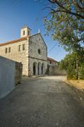 Monastery of the Holy cross in island Krapanj Stock Photos